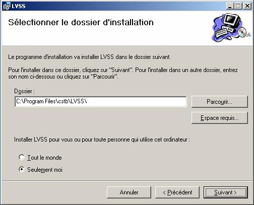 Figure 9: Installation de l'application